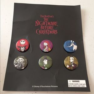 🆕 Disney Nightmare Before Christmas Buttons 2007